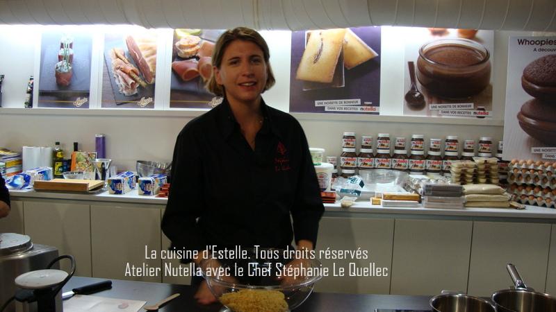 Le Chef Stéphanie Le Quellec pour l'Atelier Nutella